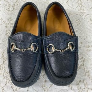 Gucci loafer 26 bit accent black leather